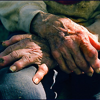 An old persons hands