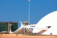 The National Museum and the cathedral of Brasilia city capital of Brazil UNESCO World Heritage site is an expression of the geniality of the architect Oscar Niemeyer