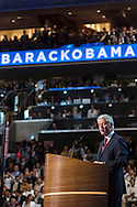 Former President Bill Clinton speaks at the Democratic National Convention on Wednesday, September 5, 2012 in Charlotte, NC.