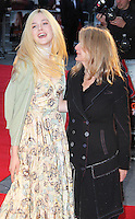LONDON - OCTOBER 13: Elle Fanning; Sally Potter attended the screening of 'Ginger And Rosa' at the Odeon West End, Leicester Square, London, UK. October 13, 2012. (Photo by Richard Goldschmidt)