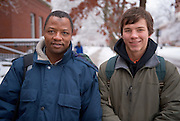 19184Campus Winter students ....Tijjani  Danbazau and Billy Carrigg(right)