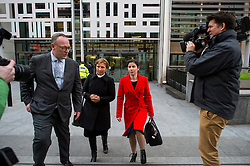 "©  London News Pictures. 28/01/2016. London, UK. MARINA LITVINENKO (second left), wife of murdered Russian agent Alexander Litvinenko, leaving The Home Office in London with her representatives following private talks with British home secretary Theresa May. The meeting comes a week after an official inquiry into her husband's death concluded that his killing was ""probably approved"" by Russian president Vladimir Putin. Photo credit: Ben Cawthra/LNP"