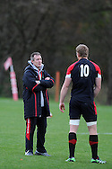 Wales coach Robert Howley looks on. Wales rugby team training at the Vale, Hensol, near Cardiff in South Wales on Tuesday 13th November 2012.  pic by Andrew Orchard, Andrew Orchard sports photography,