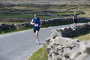 A weekend of glorious weather welcomed approximately 150 people from all over the country and abroad to Inis Mor to participate in the annual Aer Arann half marathon.  Over the past ten years people have walked and ran the roads of Inis Mor to raise in excess of 1.2 million to purchase vital life saving equipment for sick children in both Crumlin and Temple Street hospitals.  Patsy Carney from Waterford took part in the run. Photo:Andrew Downes.