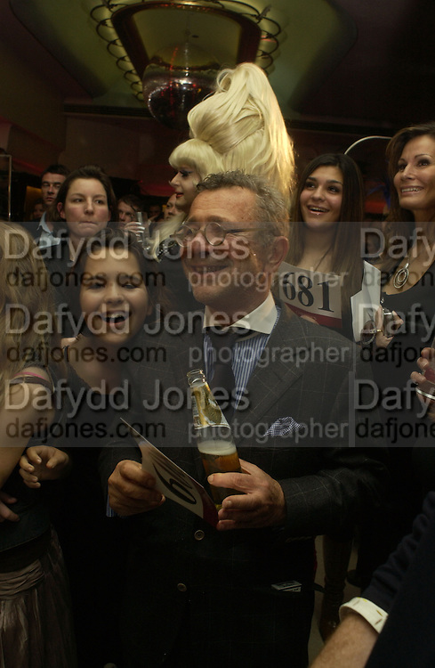 Gigi Ettedgui and her father  Joseph Ettendgui. Party following the charity premiere ( in aid of the Elton John Aids foundation) of Kinky Boots. titanic  Bar. London.  4 October 2005. . ONE TIME USE ONLY - DO NOT ARCHIVE © Copyright Photograph by Dafydd Jones 66 Stockwell Park Rd. London SW9 0DA Tel 020 7733 0108 www.dafjones.com