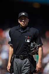 SAN FRANCISCO, CA - MAY 02:  MLB umpire Adam Hamari #78 stands on the field during the eighth inning between the San Francisco Giants and the Los Angeles Angels of Anaheim at AT&T Park on May 2, 2015 in San Francisco, California.  The San Francisco Giants defeated the Los Angeles Angels of Anaheim 5-4. (Photo by Jason O. Watson/Getty Images) *** Local Caption *** Adam Hamari