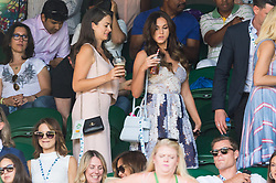© Licensed to London News Pictures. 08/07/2017. London, UK. VICKY PATTISON watches center court tennis on the sixth of the Wimbledon Lawn Tennis Championships. Photo credit: Ray Tang/LNP
