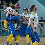 Seymour High School against Rocky Hill High School during the CIAC class M softball championship game played at DeLuca Field, Stratford, CT Friday, June 10, 2016.