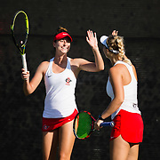 29 September 2018: The San Diego State women's tennis team hosts it's annual Fall Classic Tournament at the Aztec Tennis Facility on the campus of SDSU