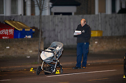 © Licensed to London News Pictures. 14/01/2019. Anerley, UK.A mother has been killed and a child is in hosptial fighting for life after being hit by a car crossing the road in Anerley near Penge.<br />   Photo credit: Grant Falvey/LNP