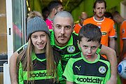 The mascots with Forest Green Rovers Liam Noble(15) during the Vanarama National League match between Forest Green Rovers and Braintree Town at the New Lawn, Forest Green, United Kingdom on 21 January 2017. Photo by Shane Healey.
