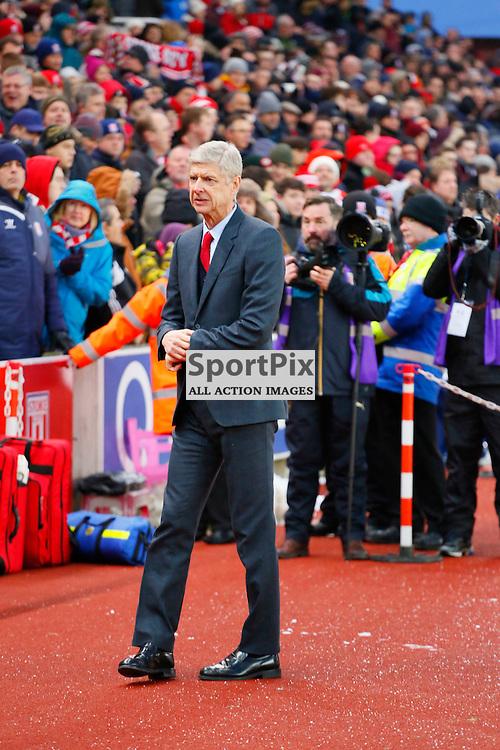 Arsène Wenger during Stoke City v Arsenal, Barclays Premier League, Sunday 17th January 2016, Britannia Stadium, Stoke