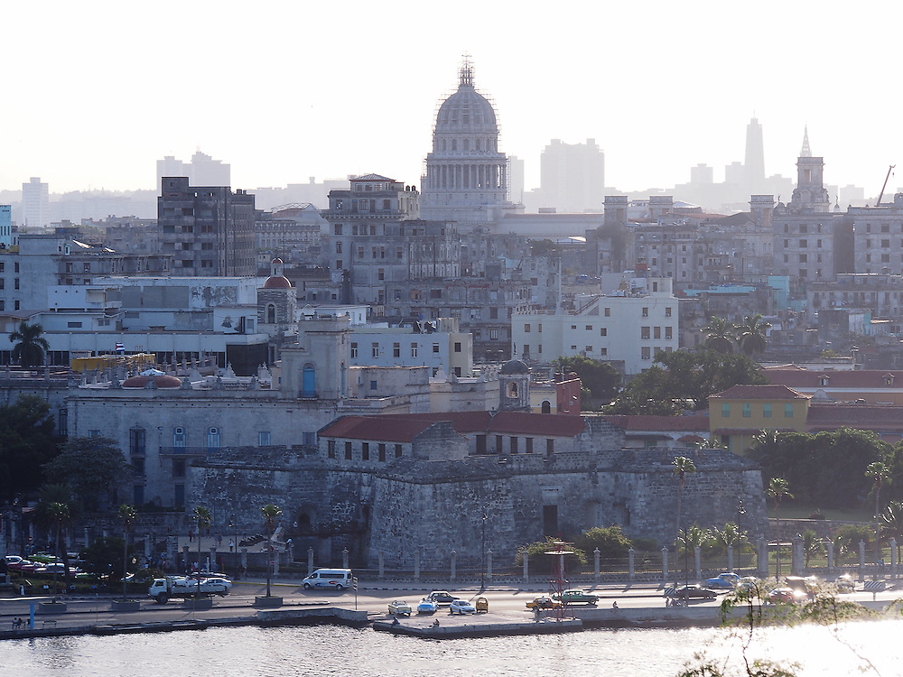 A late afternoon view of Havana including The Malećon and El Capitolio. Travel images from Havana Cuba. Pictures by Chris Pavlich Photography.