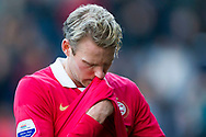 BREDA, NAC Breda - PSV, voetbal Eredivisie, seizoen 2013-2014, 10-11-2013, Rat Verlegh Stadion, teleurstelling bij PSV speler Ola Toivonen.
