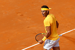 May 20, 2018 - Rome, Italy - Rafael Nadal of Spain reacts during the Mens Singles final match between Rafael Nadal and Alexander Zverev on Day Eight of the The Internazionali BNL d'Italia 2018 at Foro Italico on May 20, 2018 in Rome, Italy. (Credit Image: © Matteo Ciambelli/NurPhoto via ZUMA Press)