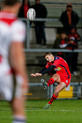Bristol Rugby Fly-Half Callum Sheedy misses with a conversion attempt - Mandatory byline: Rogan Thomson/JMP - 13/11/2015 - RUGBY UNION - Kingspan Stadium - Belfast, Northern Ireland - Ulster Ravens v Bristol Rugby - The British & Irish Cup Pool 2.