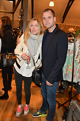 JENNIFER HOLL and LYONEL TOLLEMACHE at a party to celebrate the publication of 'Inspire: The Art of Living With Nature' by Willow Crossley held at Anthropologie, 131-141 Kings Road, London on 13th March 2014.