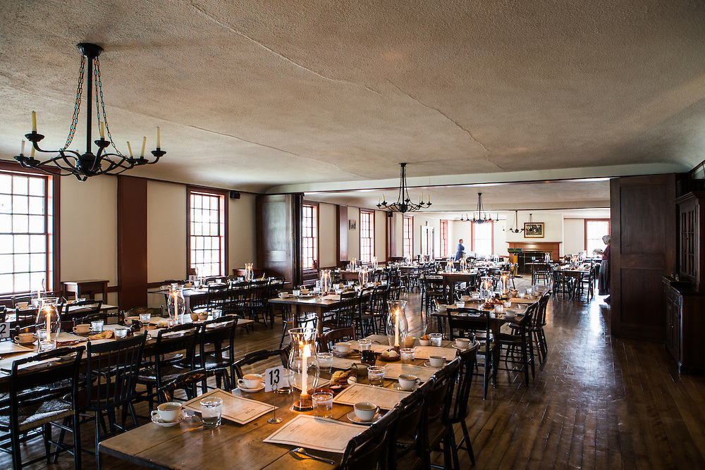 Eagle Tavern at Greenfield Village set up for Local Roots dinner.  Photographed for the Henry Ford by KMS Photography