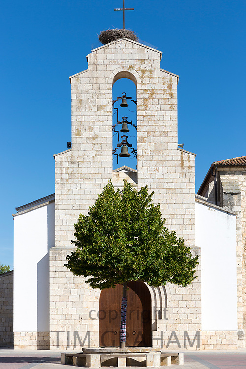 Spanish Catholic church of San Millan, in Castile and Leon, Spain