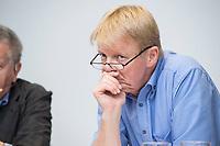 """20 JUN 2017, BERLIN/GERMANY:<br /> Reiner Hoffmann, Vorsitzender Deutscher Gewerkschaftsbund, DGB, Veranstaltung des Deutschen Gewerkschaftsbundes, DGB, """"Mitbestimmung stärken - Betriebsratsbehinderung stoppen!"""", Crown Plaza Hotel<br /> IMAGE: 20170620-01-189"""