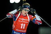 &Ouml;STERSUND, SVERIGE - 2017-12-03: Johannes Thingnes BOe under herrarnas jaktstart t&auml;vling under IBU World Cup Skidskytte p&aring; &Ouml;stersunds Skidstadion den 2 december 2017 i &Ouml;stersund, Sverige.<br /> Foto: Johan Axelsson/Ombrello<br /> ***BETALBILD***