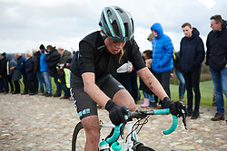 Maria Vittoria Sperotto (ITA) crosses the VAMberg at Ronde van Drenthe 2019, a 165.7 km road race from Zuidwolde to Hoogeveen, Netherlands on March 17, 2019. Photo by Sean Robinson/velofocus.com