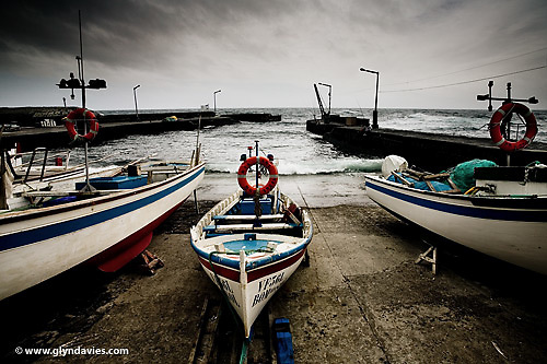 In seas with diminishing fish stocks, these small Azorzian boats still probably find more than most, stuck in the mid Atlantic, but today, with the seas rough and bad weather moving in, the whole town had gone quiet and no fishermen were to be seen.
