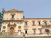 Noto il famoso paese tutelato dall'Unesco per l'architettura barocca..Chiesa dell'Immacolata..Noto, the famous village protected from Unesco for his baroque architecture..Church of Immaculate
