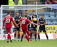 Dundee&rsquo;s Darren O&rsquo;Dea blocks Aberdeen&rsquo;s Niall McGinn's free kick - Dundee v Aberdeen in the Ladbrokes Scottish Premiership at Dens Park, Dundee. Photo: David Young<br /> <br />  - &copy; David Young - www.davidyoungphoto.co.uk - email: davidyoungphoto@gmail.com