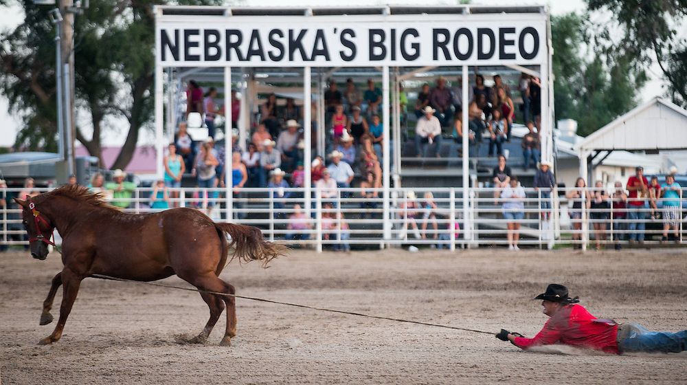 Wild Horse Race at Nebraska's Big Rodeo on Saturday, July 30, 2016, in Burwell.