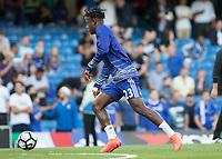 Football - 2016/2017 Premier League - Chelsea V West Ham United. <br /> <br /> Michy Batshuayi of Chelsea during warm up at Stamford Bridge.<br /> <br /> COLORSPORT/DANIEL BEARHAM