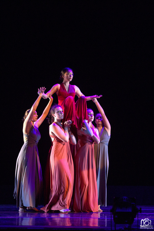 Santa Clara University's Department of Theatre & Dance students perform Images during a dress rehearsal at Louis B. Mayer Theatre in Santa Clara, California, on February 7, 2017. (Scott MacDonald for SOSKIphoto)