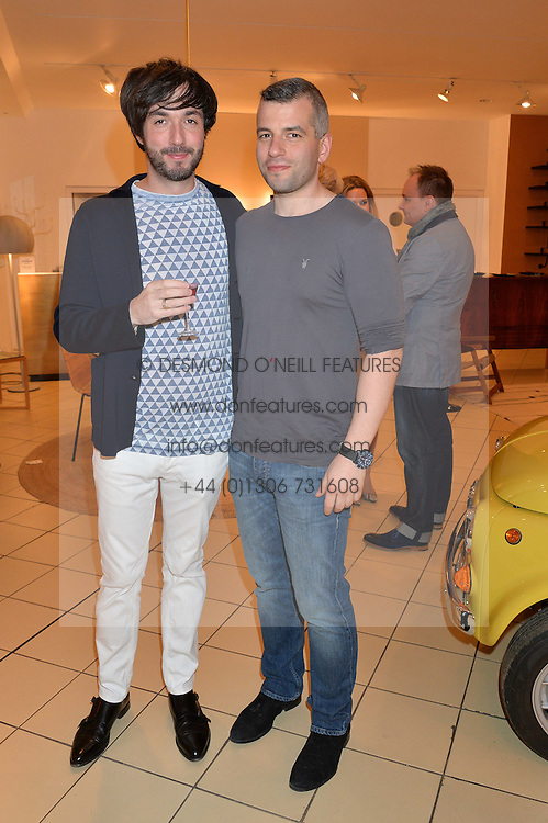 Left to right, OISIN BYRNE and JACOB KENEDY at a party to celebrate the launch of Conran Italia at The Conran Shop, Michelin House, 81 Fulham Road, London on 19th March 2015.