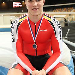 Jeffrey Hoogland (Nijverdal) pakte zilver op de sprint