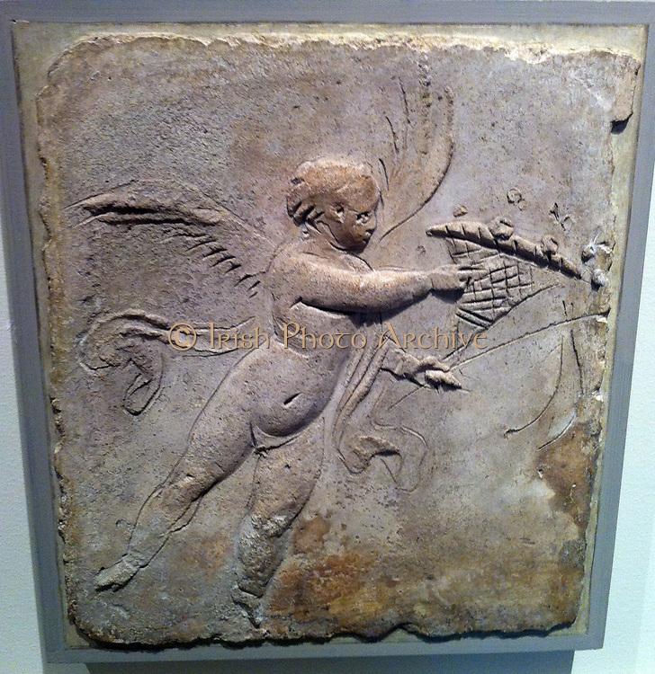 Stucco relief (Roman) depicting Eros. 1st Century AD