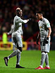 Paul Pogba of Manchester United and Anthony Martial of Manchester United  - Mandatory by-line: Joe Meredith/JMP - 20/12/2017 - FOOTBALL - Ashton Gate Stadium - Bristol, England - Bristol City v Manchester United - Carabao Cup Quarter Final