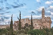 Israel, Jerusalem, Old City, The tower of David