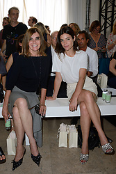 Carine Roitfeld and her daughter Julia Restoin Roitfeld attending the Bonpoint Haute Couture Paris Fashion Week Fall/Winter 2018/19 held in Paris, France on july 04, 2018. Photo by Aurore Marechal/ABACAPRESS.COM