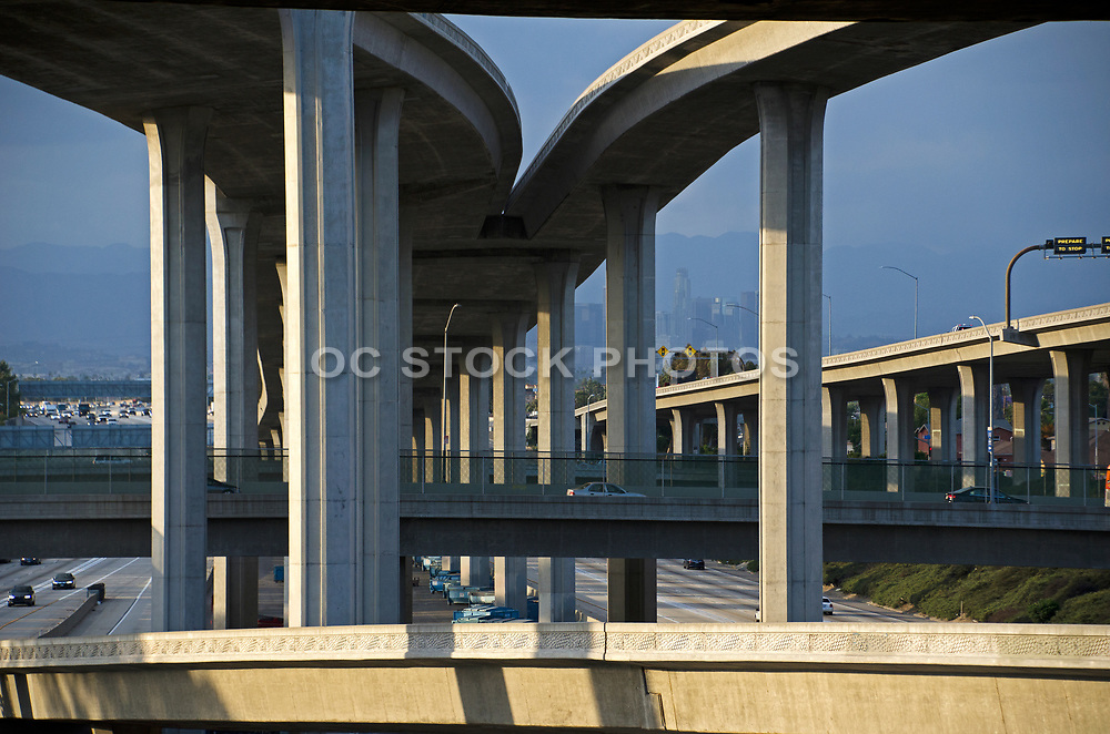105 110  Freeway Interchange in Los Angeles