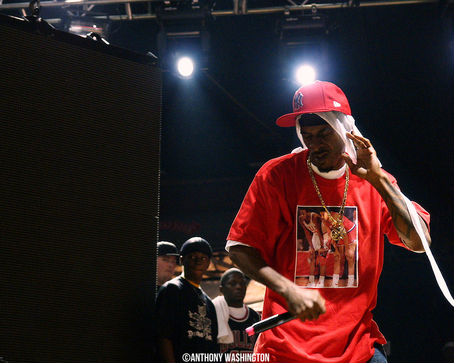 Rakim performs at the Rock the Bells Festival at Merriweather Post Pavilion in Columbia, MD on July 28, 2008.