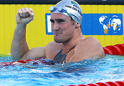 090730) -- ROME, July 30, 2009 -- Cameron Van Der Burgh of South Africa reacts after the Men's 50m Breaststroke Final in the 13th FINA World Championships in Rome, Italy, July 29, 2009. Cameron Van Der Burgh won gold and broke the world record with 26.67 seconds. Zhang Yuwei)(lm (Credit Image: Xinhua/ZUMAPRESS.com)