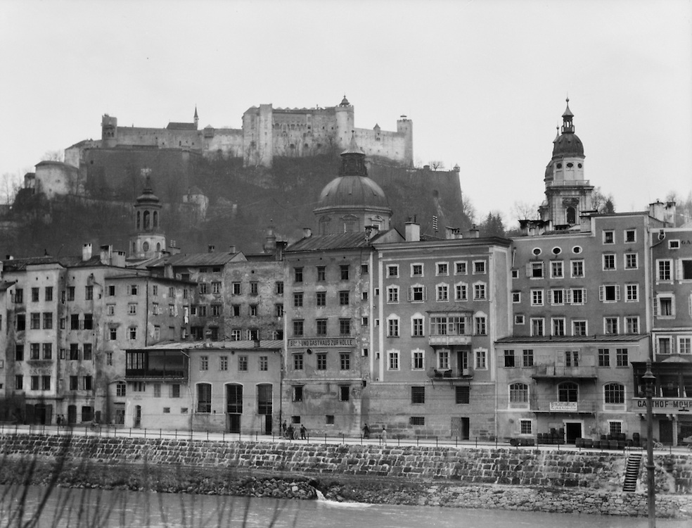 Old Town and Hohensalzburger Fortress, Salzburg, Austria, 1925