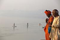 Holi Men on the banks of the Ganga