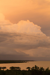 Wet season storms roll in over Broome's Roebuck Bay.