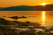 Sunset on the St. Lawrence River, L'Isle-aux-Coudres, Quebec, Canada