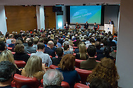 A general view of the auditorium during the Greener London Hustings in advance of the London Mayoral election at One Wimpole Street, London.<br /> Picture by Focus Images/Focus Images Ltd 07814 482222<br /> 04/03/2016