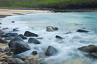 Diseños de agua y roca (Stones and water features). Playa Dail Beag Beach. Lewis Island. Outer Hebrides. Scotland, UK