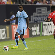 Dedryck Boyata, Manchester City, in action during the Manchester City Vs Liverpool FC Guinness International Champions Cup match at Yankee Stadium, The Bronx, New York, USA. 30th July 2014. Photo Tim Clayton