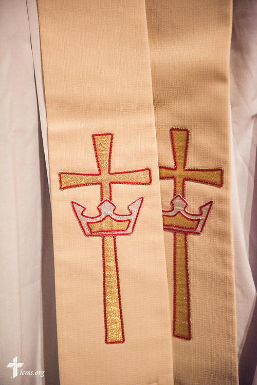 Stoles for worship in Madrid, Spain, on Saturday, Nov. 5, 2016. LCMS Communications/Erik M. Lunsford