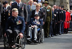 © Licensed to London News Pictures 25/04/2013.Australian, New Zealand and British soldiers and ex-veterans attend ANZAC Day for wreath laying at the Cenotaph in central London..London, UK.Photo credit: Anna Branthwaite/LNP